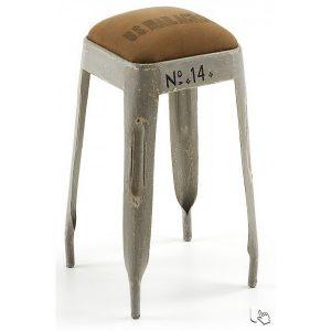 hubbs-34x34-in-metallo-verniciato-bianco-o-grigio-invecchiato-e-seduta-in-tessuto-marrone-quadratosgabello