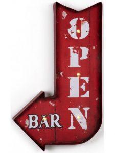 open-metallo-rosso-lucine-decorazione-murale-