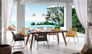 arredamento, tavoli, sedie ,giallo